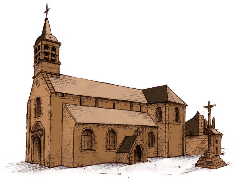 Naissance de la petite eglise - Eglise dessin ...